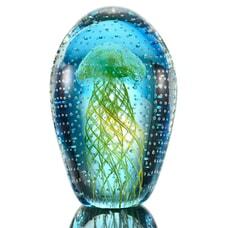 "6.5"" Yellow Jellyfish w/ Bubbles (Glow in the Dark)"
