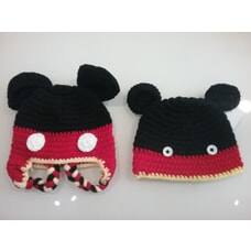 Baby Crochet Mickey Mouse Hat