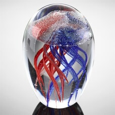 """4.5"""" Red and Blue Jellyfish (Glow in the Dark)"""