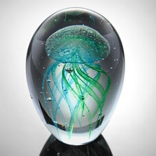 "4.5"" Teal Jellyfish (Glow in the Dark)"