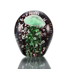 "4"" Green Jellyfish w/ Black BG (Glow in the Dark)"