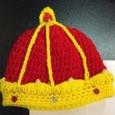 Golden Crown Baby Crochet Hat