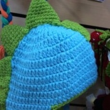 Baby Crochet Dinosaur Hat