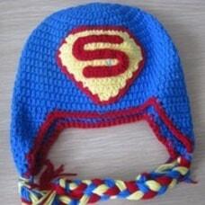 Superman/Supergirl Baby Crochet Hat